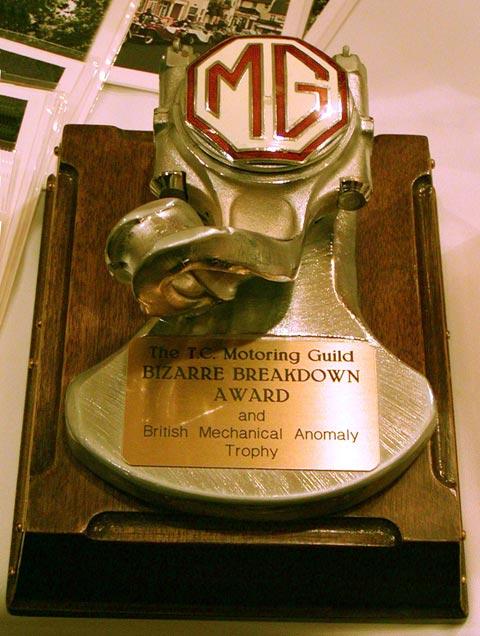 The T.C. Motoring Guild Bizarre Breakdown Award and British Mechanical Anomaly Trophy