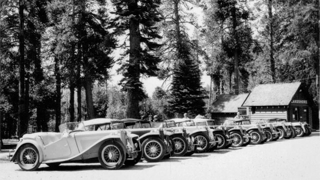 Lineup at the 1965 TCMG / ARR Conclave at Huntington Lake.