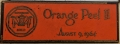 Orange Peel II Dash Plaque
